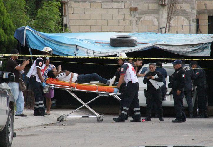 El menor fue trasladado de urgencia al hospital para recibir atención médica. (Foto: Redacción/SIPSE)