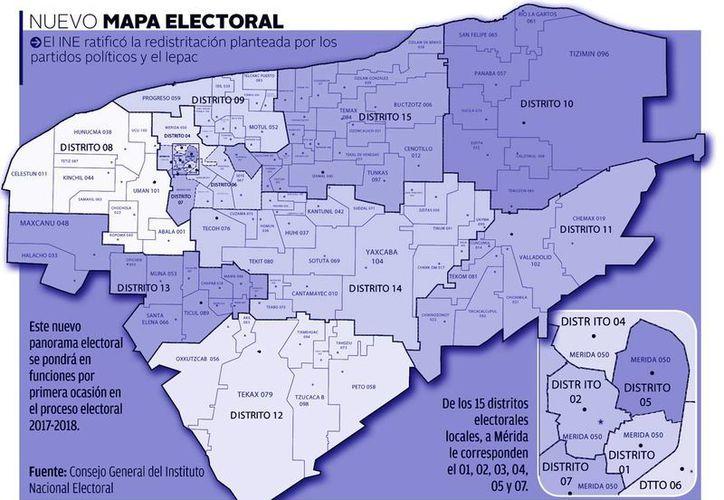 Con la nueva redistritación electoral local para Yucatán habrá una mejor representatividad. (Milenio Novedades)