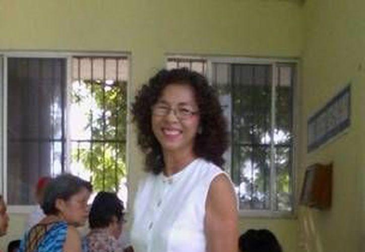 Blanca Li Ortega, candidata del PAN a la alcaldía de Progreso, reconoció el triunfo del abanderado de la coalición Panal-PRD-PT, José Cortés Góngora. (Óscar Pérez/SIPSE)