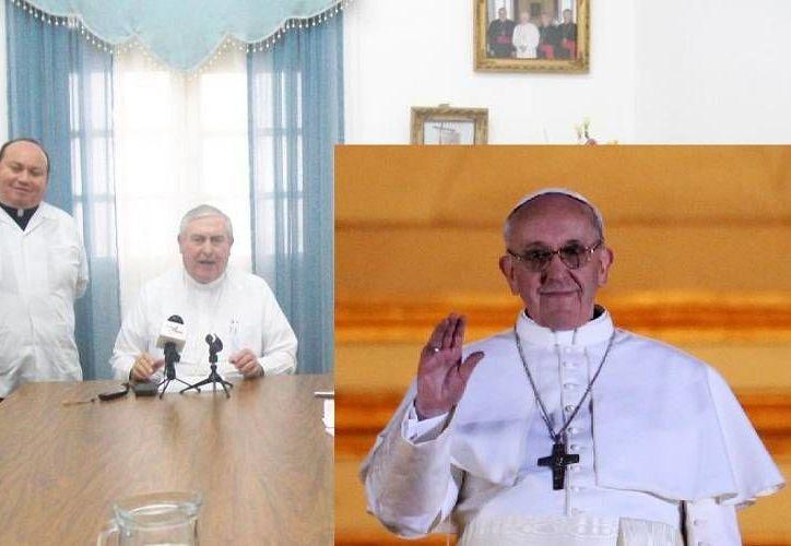 El Arzobispo de Mérida (i) se alojó en la residencia Santa Marta donde vive el Papa (d). (http://arquidiocesisdeyucatan.com.mx/Archivo)