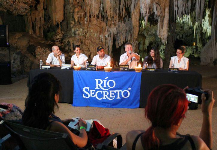 """Misterios del Inframundo"" se presentó en la reserva natural Río Secreto. (Foto: Daniel Pacheco)"