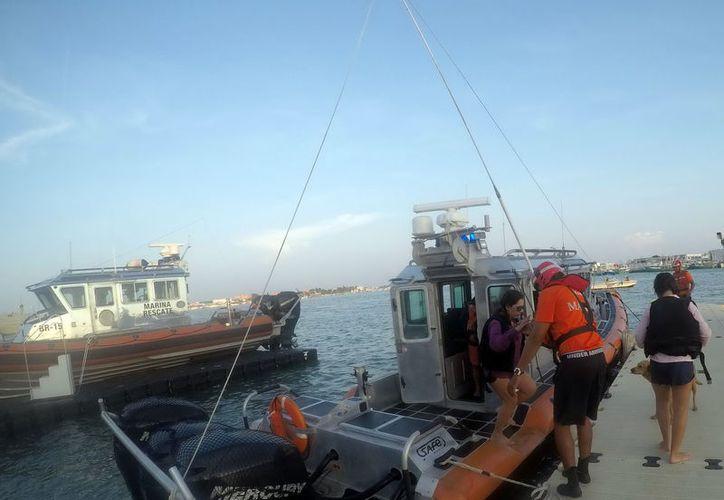 """Los tripulantes de """"Chac Chi"""" fueron rescatados por personal adscrito a la Novena Zona Naval. (Foto: Milenio Novedades)"""