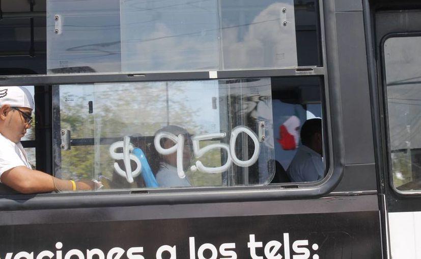"""Mencionan que la ciudadanía fue """"crucificada"""" con ese artero aumento a las tarifas del transporte. (Jesús Tijerina/SIPSE)"""