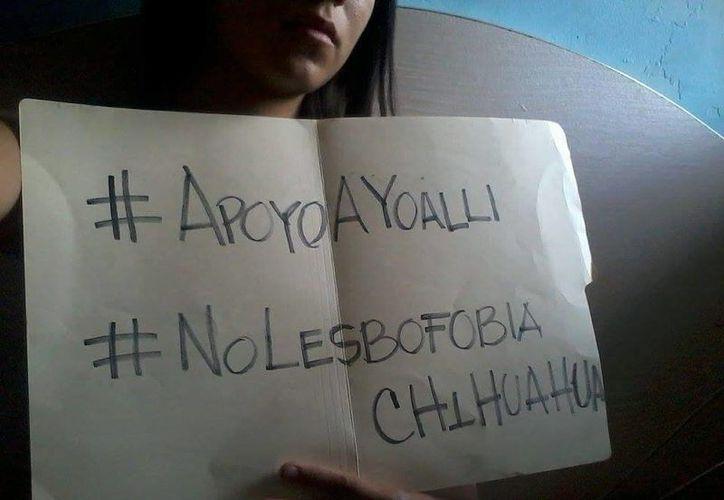 Usuarios de redes sociales han mostrado su apoyo al caso de Yoalli. (Facebook/Musas de Metal Grupo de Mujeres Gay)