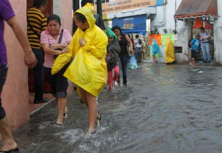 En algunos puntos de Mérida se reportaron 62 mm de lluvia. Se prevé que este sábado también llueva fuertemente. (SIPSE)