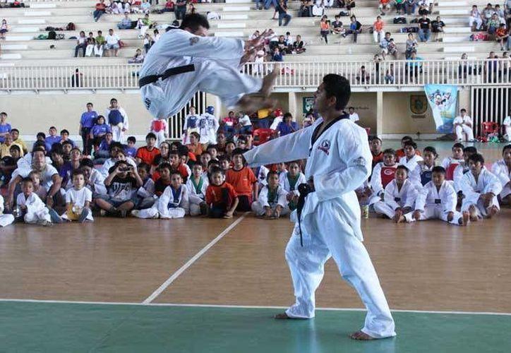 El tae kwon do estatal tendrá nuevo entrenador, así como el judo. Imagen de la participación de un atleta yucateco en la Olimpiada Nacional. (Milenio Novedades)