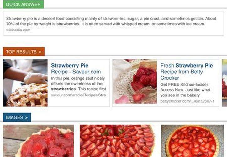 Izik comparte algunas similitudes con una aplicación de búsqueda a través de tabletas llamada Axis, que Yahoo Inc. lanzó en mayo. (Agencias)