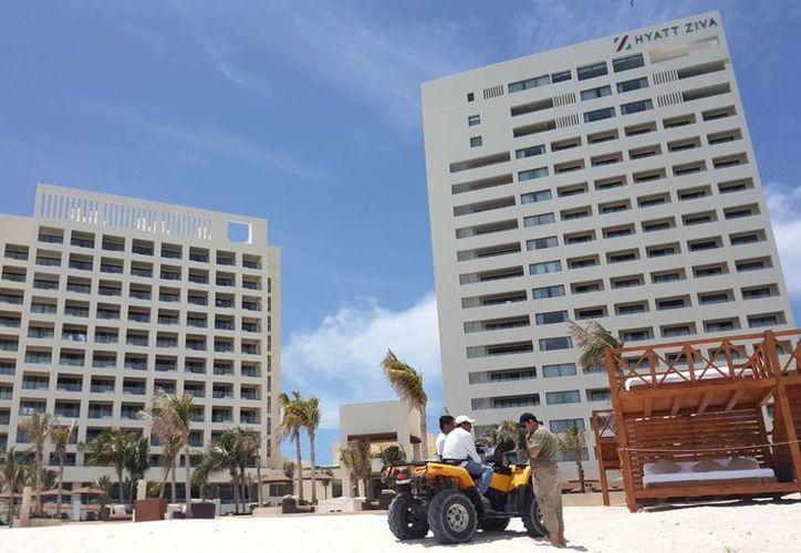 El Hyatt Ziva se ubica en Punta Cancún, en el kilómetro 9.5 del bulevar Kukulcán. (Jesús Tijerina/SIPSE)