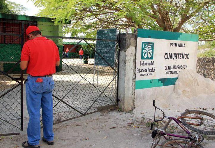 """La escuela primaria """"Cuauhtémoc"""" pertenece al municipio de Yaxcabá, en el oriente del estado. (SIPSE)"""