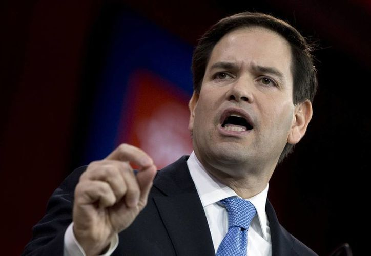 Marco Rubio, de 43 años, es un candidato republicano nacido en Cuba que podría postularse este lunes a la presidencia de Estados Unidos. (Foto: AP)