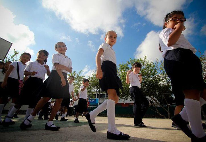 Imagen de una escuela primaria de Cancún. En Quintana Roo, cerca de 430 mil estudiantes iniciaron este lunes 22 de agosto de 2016 el ciclo escolar 2016-2017. (Notimex)