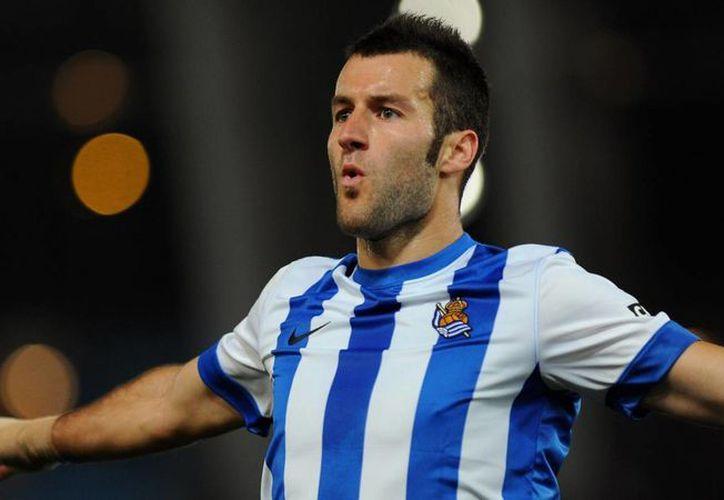Imanol Agirretxe marcó el primer gol de Real Sociedad, al final empataron 2-2 ante Almería en Liga de España. (eurosport.com/Foto de archivo)