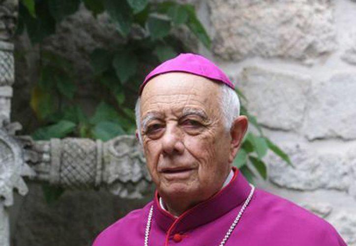 Alberto Suárez Inda, arzobispo de Morelia fue nombrado cardenal de manos del Papa en el Vaticano el pasado mes de febrero. (Notimex)