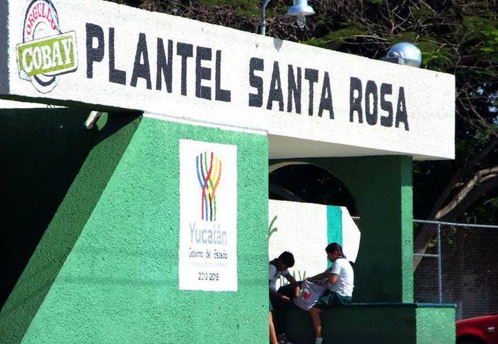 El plantel de Santa Rosa será uno de los beneficiados con alimento diario para sus estudiantes. (SIPSE)