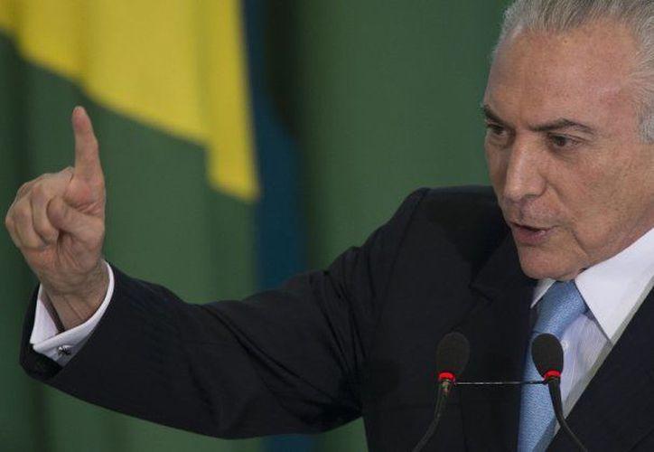 El presidente de Brasil, Michel Temer, podrá continuar con su mandato.  (Minuto Uno)