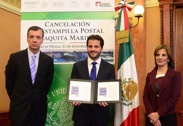 Este lunes fueron canceladas las estampillas que promoverán el rescate de la Vaquita Marina. (Facebook/Correos de México)