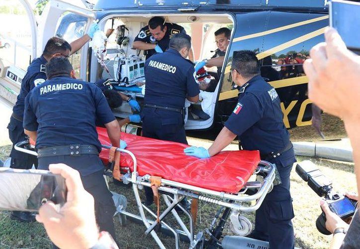 la menor, que iba en una moto con sus padres, fue atropellada en Tizimín. (Milenio Novedades)