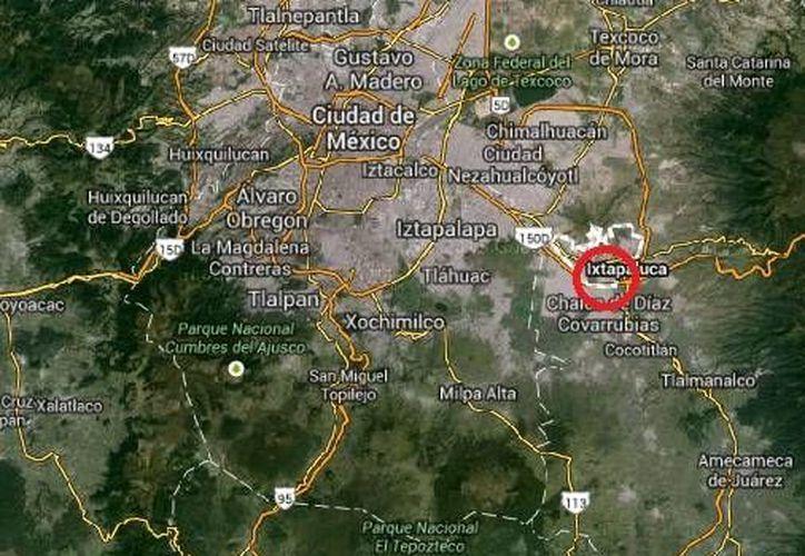 Entre los drogadictos rescatados del albergue en Ixtapaluca  había siete menores. (Google Maps)