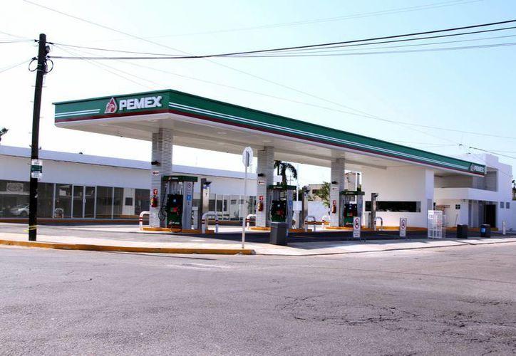 Las instalaciones de la gasolinera prácticamente están listas. (José Acosta/SIPSE)