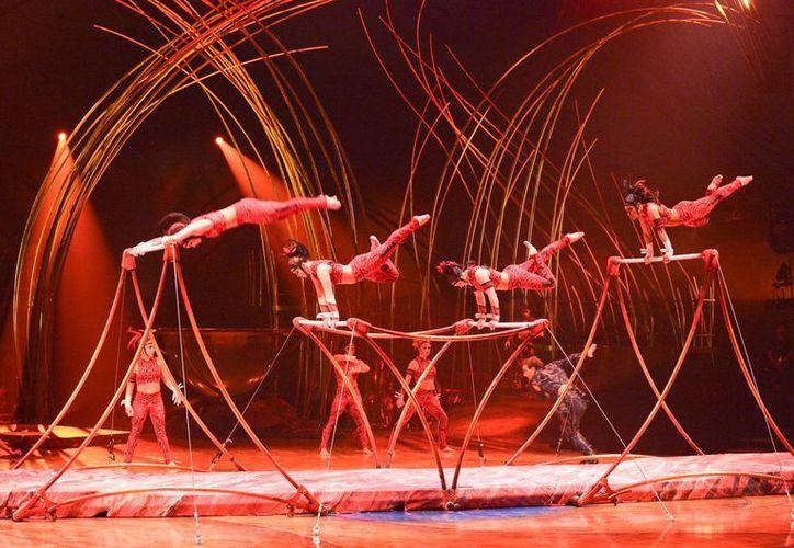 El Cirque du Soleil ha tenido cada vez más éxito, pese al paso de los años y a que ya no utilizan animales. (Notimex)