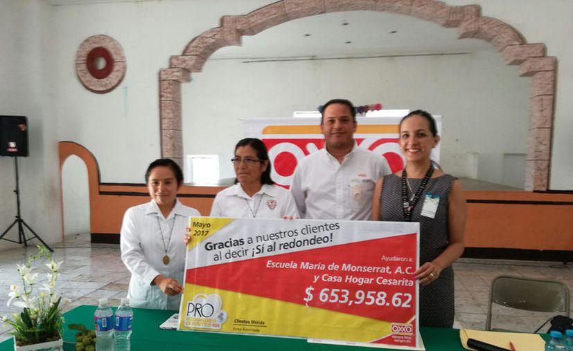 Oxxo dona los centavos de sus clientes a instituciones de beneficencia. (D. Sandoval/ Milenio Novedades)