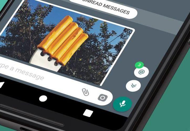 Los usuarios tendrán más facilidad para leer los mensajes que sólo vayan dirigidos para ellos dentro de un grupo. (WhatsApp).