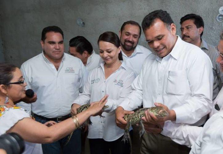 El gobernador Rolando Zapata estará   este miércoles en Tekax. (SIPSE)
