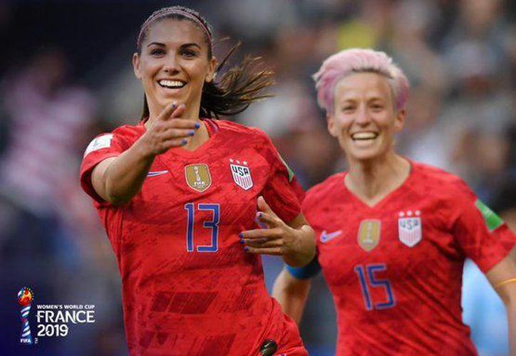 Las jugadoras de Estados Unidos ganaron 13-0 y superaron el 11-0 que era la goleada más amplia en Mundiales (Foto: @FIFAWWC)
