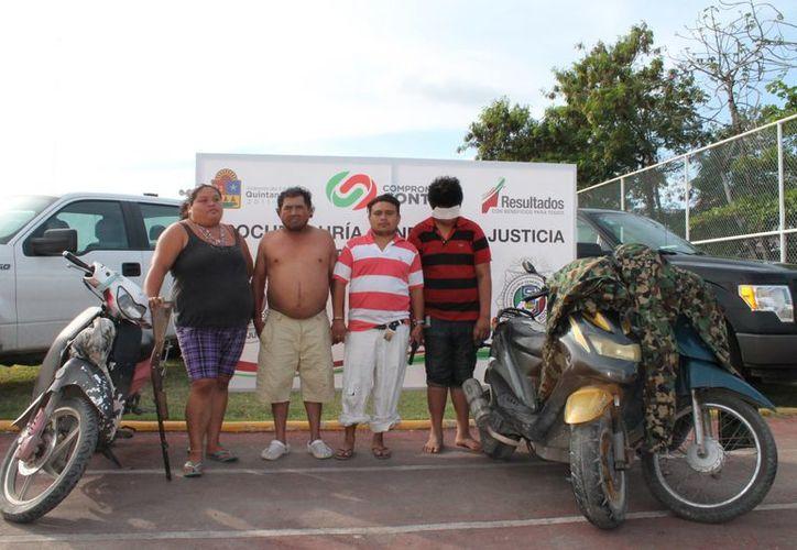 Los detenidos junto con lo asegurado fueron puestos a disposición del Ministerios Público del Fuero de lo Común. (Redacción/SIPSE)