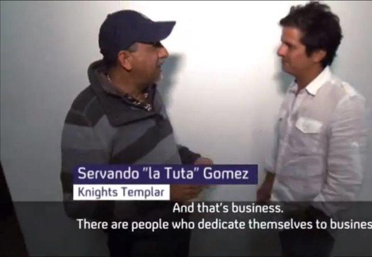 'Desde chico he sido altruista', indica el líder de los Caballeros Templarios, 'La Tuta', al periodista del canal británico 4 news. (Captura de pantalla)