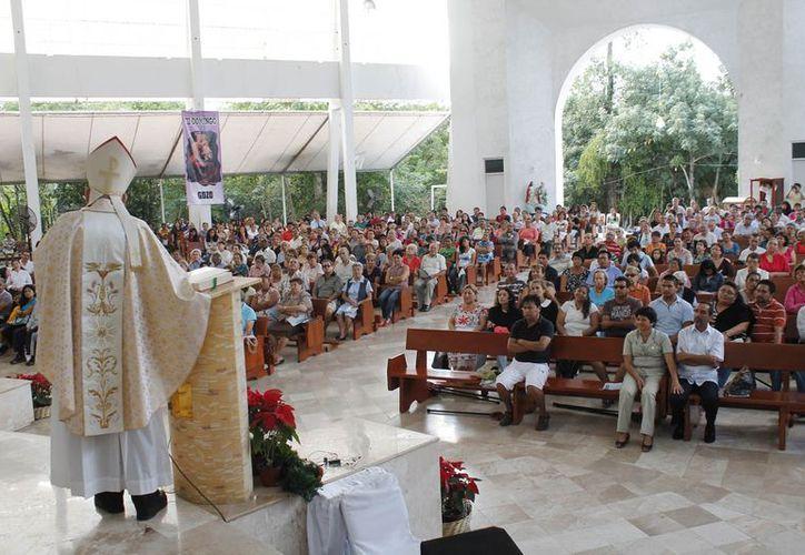 Monseñor Pedro Pablo Elizondo Cárdenas dijo que hay un progreso en el campo de la evangelización. (Jesús Tijerina/SIPSE)