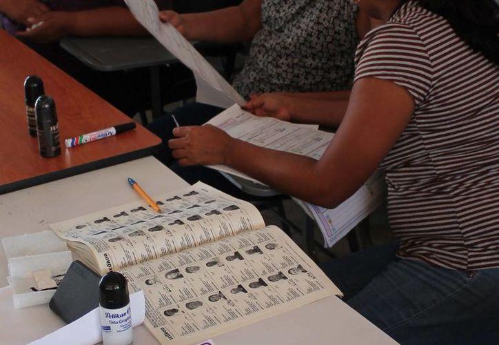 En la lista nominal definitiva aparecen todas las personas que podrán votar el 7 de junio. (Archivo/SIPSE)