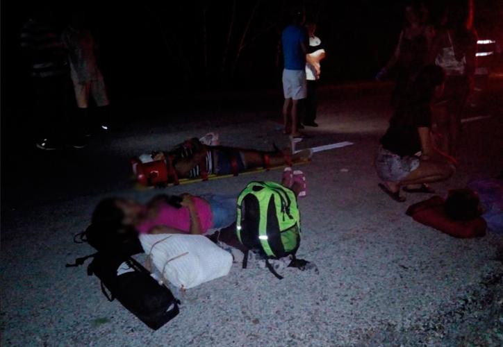 Los turistas fueron trasladados a un hospital. (Redacción/SIPSE)