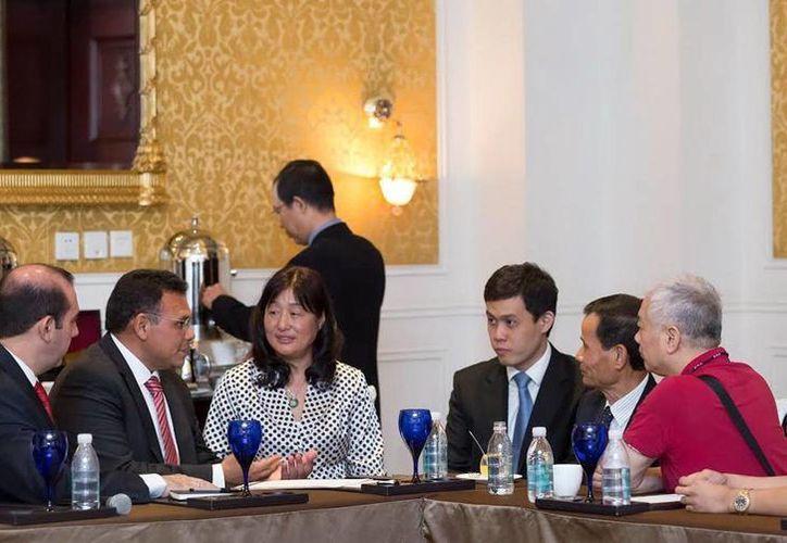 El Gobernador y parte de su gabinete sostuvieron reuniones con empresarios chinos. (SIPSE)