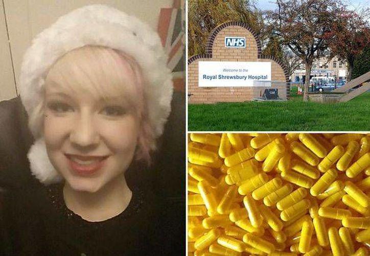 Eloise Aimee Parry falleció tras ingerir cápsulas para adelgazar que aparecen en la imagen, las cuales contienen un pesticida altamente tóxico. (mirror.co.uk)