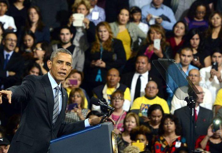 Obama aseguró que Estados Unidos 'no es una nación que echa a los luchadores'. (EFE)