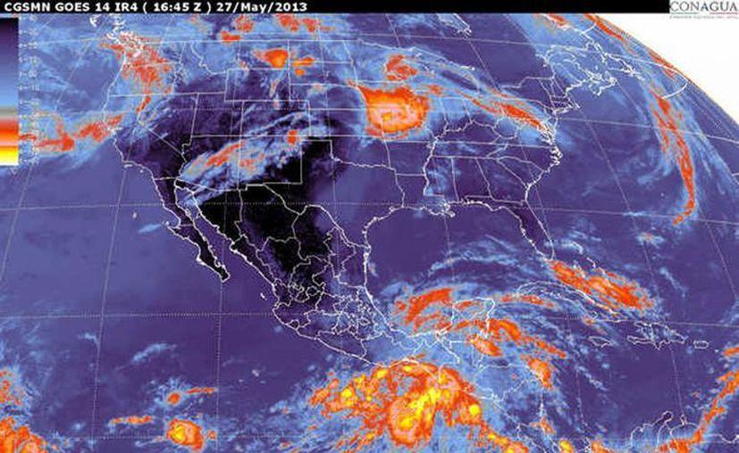 Habrá lluvias moderadas con chubascos en el sureste de Yucatán. (smn.cna.gob.mx)