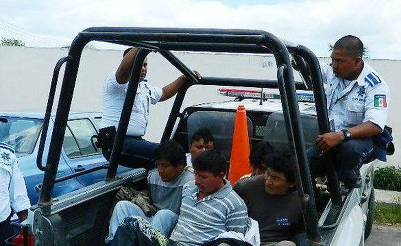 Todos los detenidos son originarios de Tizimín y algunos tienen antecedentes penales. (SIPSE)