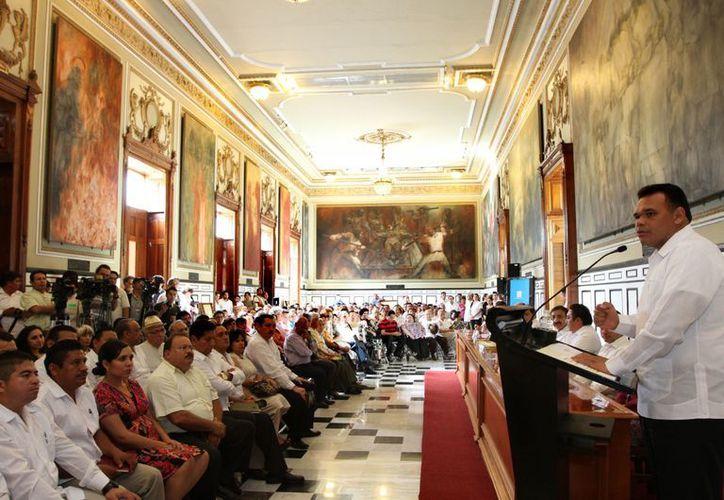 El gobernador Rolando Zapata tendrá este jueves dos eventos relacionados con la educación. (SIPSE)