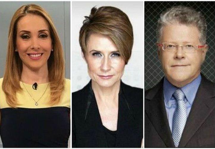 Los periodistas Azucena Uresti, Denise Maerker y Sergio Sarmiento son los candidatos para moderar el primer debate presidencial.  (Foto: Milenio)