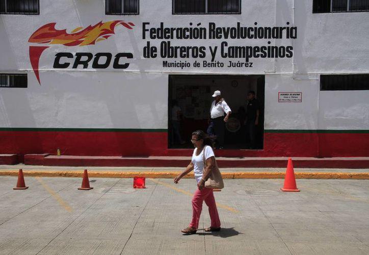 La CROC tiene candidatos fuertes para presidencias municipales. (Tomás Álvarez/SIPSE)