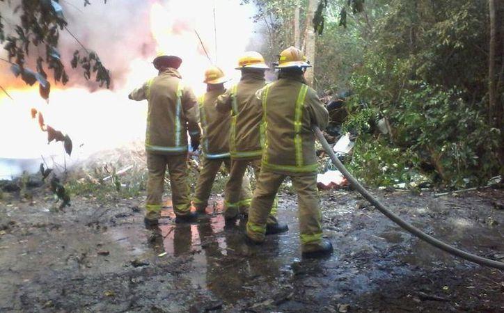 El  Cuerpo de Bomberos cuenta con 22 elementos que atienden los incendios y emergencias. (Foto: Redacción)