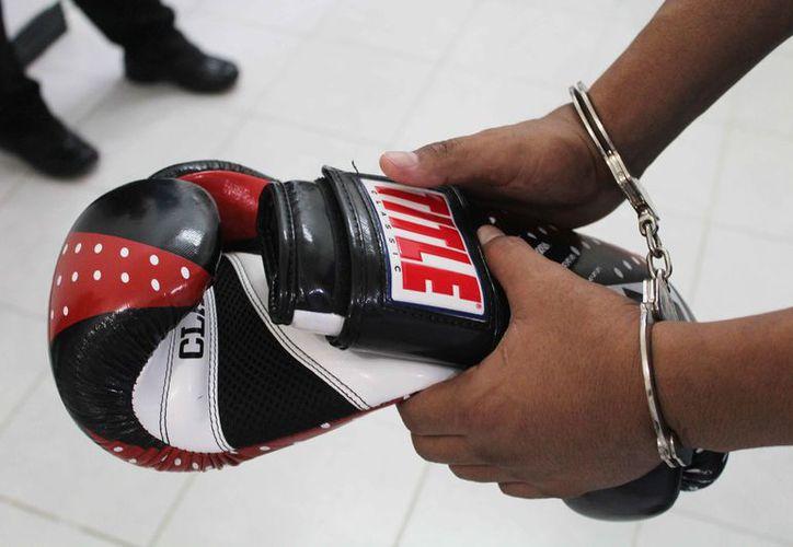 El boxeador dijo que quiere retomar su carrera que dejó hace unos años. (Yvette Ycos/SIPSE)