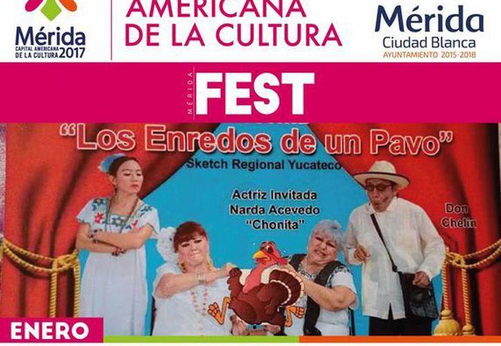 Obras de teatro regional encabezadas por los artistas 'Calabazo', 'Zapote' y 'Balita Balam' se presentarán en el Mérida Fest. (Foto cortesía)