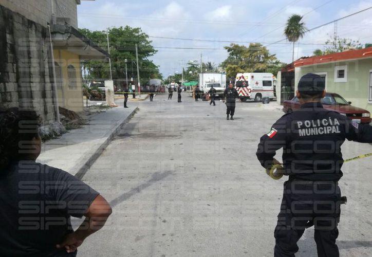 La Policía Municipal realiza un operativo en el lugar. (Foto: Orville Peralta)