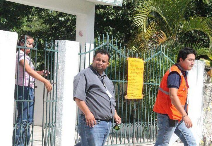 Agentes ministeriales revisaron las estancias infantiles en el municipio de Dzidzantún para proporcionar una mayor seguridad a los menores. (Milenio Novedades)