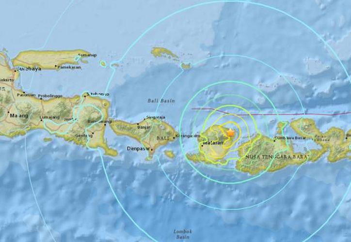 Más de 700 réplicas han sacudido la isla de Lombok desde el terremoto de hace 14 días. (USGS)