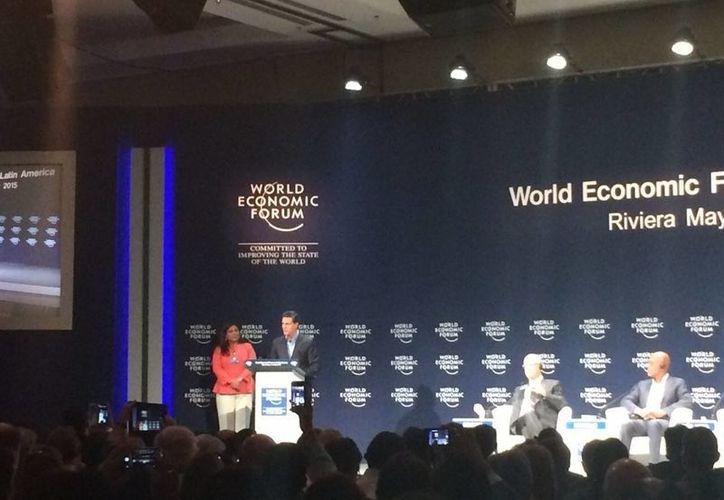 Enrique Peña Nieto, inauguró el Foro  Económico Mundial. (Stephani Blanco/SIPSE)