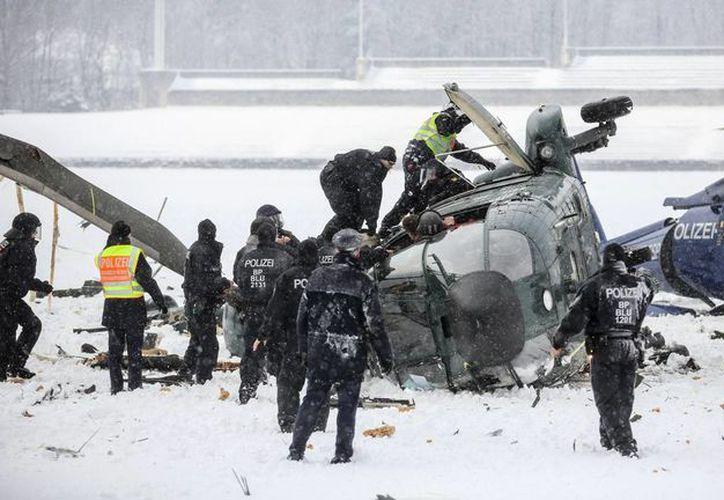 En el lugar del accidente se encontraban hasta 400 policías participando de los ejercicios. (Agencias)