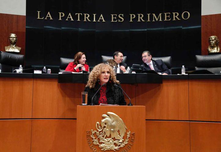 La senadora presentó ante la Comisión Permanente del Congreso de la Unión, un punto de acuerdo. (Cortesía)